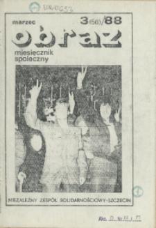 Obraz : miesięcznik społeczny. 1988 nr 3