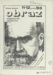 Obraz : miesięcznik społeczny. 1988 nr 11-12