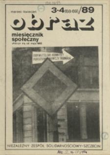 Obraz : miesięcznik społeczny. 1989 nr 3-4