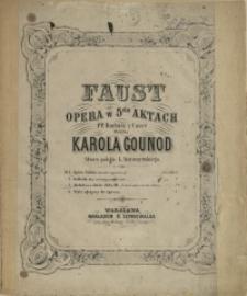"""Faust : opera w 5ciu aktach. No 3, Melodya z duetu Aktu III """"Pozwól patrzeć na twe oblicze"""""""