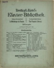 Etüden z. Förderung d. Technik u. d. Vortrage : Op. 11