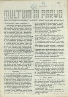 Multum in Parvo : biuletyn informacyjny. 1989