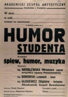 [Afisz. Inc.:] Akademicki Zespół Artystyczny Studentów z Poznania [...]