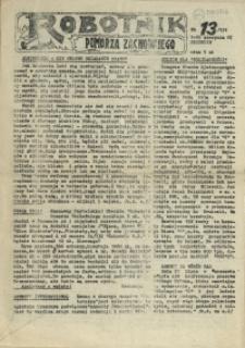 Robotnik Pomorza Zachodniego. 1987 nr 13