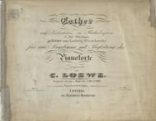 Esther : ein Liederkreis in Balladenform : in 5 Abtheilungen : gedichtet von Ludwig Giesebrecht : für eine Singstimme mit Begleitung des Pianoforte : Op. 52