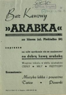 """[Inc.:] Bar Kawowy """"Arabka"""" [...]"""