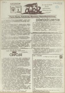 Słowo : pismo Ruchu Katolickiej Młodzieży Niepodległościowej. 1988 nr 1