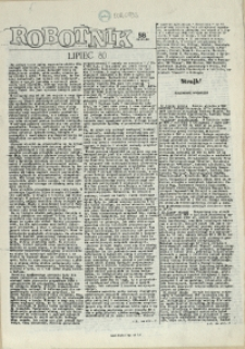 Robotnik : wydanie szczecińskie. 1980 nr 58