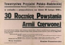 [Afisz] Towarzystwo Przyjaźni Polsko-Radzieckiej : [rocznica powstania Armii Czerwonej]