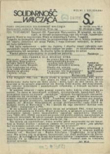 """Solidarność Walcząca : pismo NSZZ """"Solidarność"""" Szczecin. 1986 nr 16"""