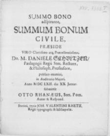 Summo Bono adspirante, Summum Bonum Civile