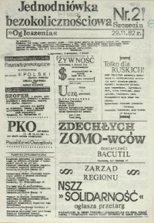 Jednodniówka Bezokolicznościowa. 1982 nr 2