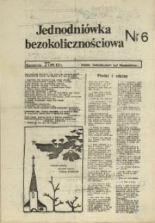 Jednodniówka Bezokolicznościowa. 1983 nr 6
