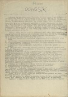 Donosik : wiadomości Biura Informacyjnego NZS Szczecin. 1981 nr 1