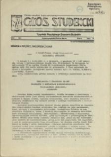 Głos Studencki : tygodnik Niezależnego Zrzeszenia Studentów. 1981 nr 3