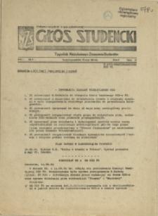 Głos Studencki : tygodnik Niezależnego Zrzeszenia Studentów. 1981 nr 4