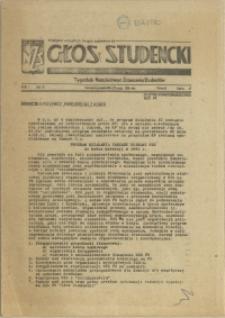 Głos Studencki : tygodnik Niezależnego Zrzeszenia Studentów. 1981 nr 5