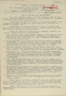 """Jedność - Komunikat : pismo Tymczasowego Zarządu Regionu Pomorza Zachodniego NSZZ """"Solidarność"""". 1989 nr 5"""
