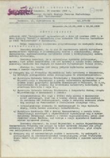 """Jedność - Komunikat : pismo Tymczasowego Zarządu Regionu Pomorza Zachodniego NSZZ """"Solidarność"""". 1989 nr 9"""