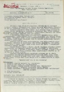 """Jedność - Komunikat : pismo Tymczasowego Zarządu Regionu Pomorza Zachodniego NSZZ """"Solidarność"""". 1989 nr 11"""