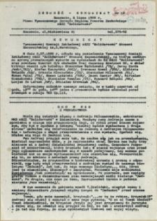 """Jedność - Komunikat : pismo Tymczasowego Zarządu Regionu Pomorza Zachodniego NSZZ """"Solidarność"""". 1989 nr 12"""