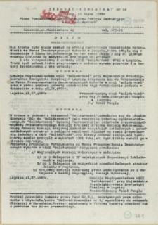 """Jedność - Komunikat : pismo Tymczasowego Zarządu Regionu Pomorza Zachodniego NSZZ """"Solidarność"""". 1989 nr 14"""