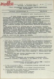 """Jedność - Komunikat : pismo Tymczasowego Zarządu Regionu Pomorza Zachodniego NSZZ """"Solidarność"""". 1989 nr 19"""
