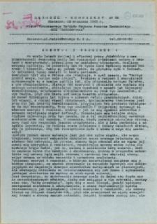 """Jedność - Komunikat : pismo Tymczasowego Zarządu Regionu Pomorza Zachodniego NSZZ """"Solidarność"""". 1989 nr 22"""
