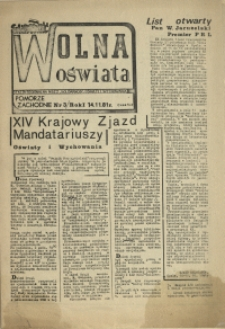 Wolna Oświata. 1981 nr 3