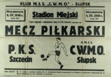 [Afisz. Inc.:] Z cyklu rozgrywek o mistrzostwo A-klasy O.Z.P.N. Szczecin odbędzie się mecz piłkarski