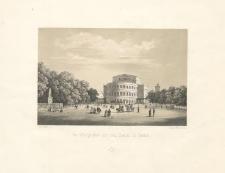 Der Königsplatz mit dem Theater in Stettin