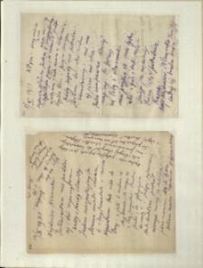 Listy Stanisława Ignacego Witkiewicza do żony Jadwigi z Unrugów Witkiewiczowej. List z 08.10.1931. List z 10.10.1931.