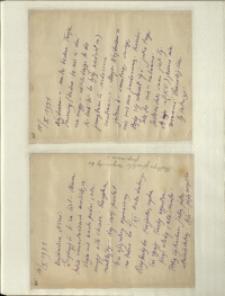 Listy Stanisława Ignacego Witkiewicza do żony Jadwigi z Unrugów Witkiewiczowej. List z 15.10.1931. List z 17.10.1931.