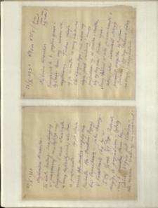 Listy Stanisława Ignacego Witkiewicza do żony Jadwigi z Unrugów Witkiewiczowej. List z 23.10.1931. List z 24.10.1931.