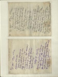 Listy Stanisława Ignacego Witkiewicza do żony Jadwigi z Unrugów Witkiewiczowej. List z 01.11.1931. List z 03.11.1931.