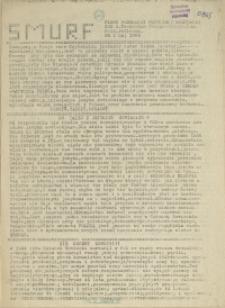 Smurf : pismo Federacji Młodzieży Walczącej. ZSB 2, Technikum Poligraficzne, Zas. Poligraficzna. 1989 nr 1