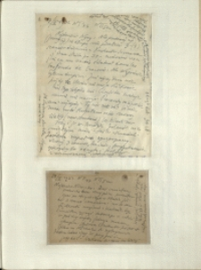 Listy Stanisława Ignacego Witkiewicza do żony Jadwigi z Unrugów Witkiewiczowej. List z 27.02.1932. Karta pocztowa z 28.02.1932.