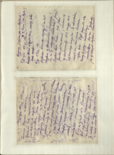 Listy Stanisława Ignacego Witkiewicza do żony Jadwigi z Unrugów Witkiewiczowej. List z 07.03.1932. List z 10.03.1932.