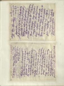 Listy Stanisława Ignacego Witkiewicza do żony Jadwigi z Unrugów Witkiewiczowej. List z 27.04.1932. List z 29.04.1932.