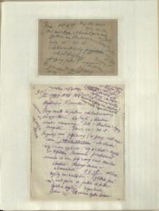 Listy Stanisława Ignacego Witkiewicza do żony Jadwigi z Unrugów Witkiewiczowej. Kartka pocztowa z 29.03.1933. List z 30.03.1933.