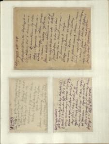 Listy Stanisława Ignacego Witkiewicza do żony Jadwigi z Unrugów Witkiewiczowej. List z 28.05.1933. Kartka pocztowa z 28.05.1933. Kartka pocztowa z 30.05.1933.