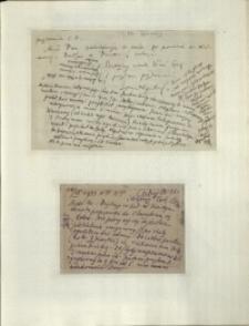 Listy Stanisława Ignacego Witkiewicza do żony Jadwigi z Unrugów Witkiewiczowej. List z 08. lub 09.06.1933. Kartka pocztowa z 10.06.1933.