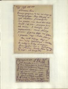 Listy Stanisława Ignacego Witkiewicza do żony Jadwigi z Unrugów Witkiewiczowej. List z 06.08.1933. Kartka pocztowa z 08.08.1933.