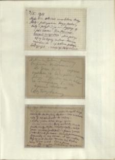 Listy Stanisława Ignacego Witkiewicza do żony Jadwigi z Unrugów Witkiewiczowej. List z 09.02.1934. Kartka pocztowa z 11.02..1934. Kartka pocztowa z 13.02.1934.