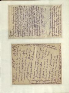 Listy Stanisława Ignacego Witkiewicza do żony Jadwigi z Unrugów Witkiewiczowej. List z 01.03.1934. List z 12.03.1934.
