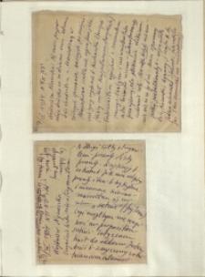 Listy Stanisława Ignacego Witkiewicza do żony Jadwigi z Unrugów Witkiewiczowej. List z 07.04.1934. List z 09.04.1934.