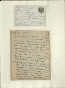 Listy Stanisława Ignacego Witkiewicza do żony Jadwigi z Unrugów Witkiewiczowej. Kartka pocztowa z 04.06.1934. List z 05.06.1934.