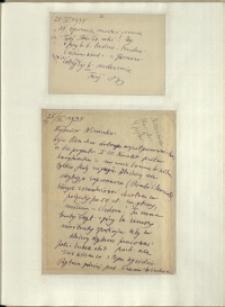 Listy Stanisława Ignacego Witkiewicza do żony Jadwigi z Unrugów Witkiewiczowej. Kartka pocztowa z 24.06.1934. List z 25.06.1934.