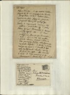 Listy Stanisława Ignacego Witkiewicza do żony Jadwigi z Unrugów Witkiewiczowej. List z 02.07.1934. Kartka pocztowa z 04.07.1934.