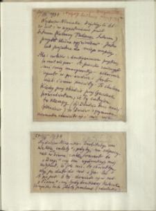 Listy Stanisława Ignacego Witkiewicza do żony Jadwigi z Unrugów Witkiewiczowej. List z 26.08.1934. List z 27.08.1934. List z 28.08.1934.